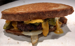 Lu's Patty Melt with Not My Dad's White Bread